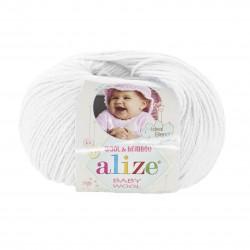 Baby Wool 55 (Valge)